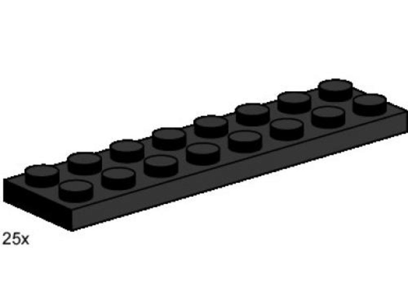 2 x 8 Black Plates