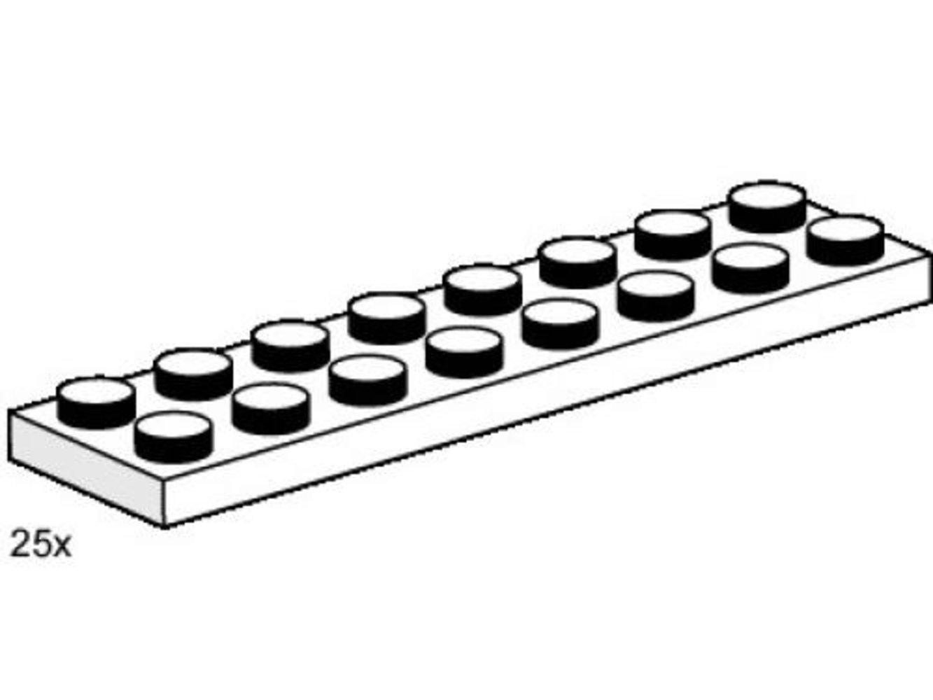 2 x 8 White Plates