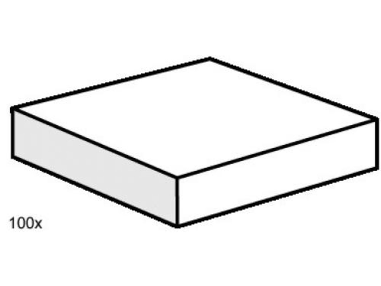 2 x 2 White Smooth Tiles