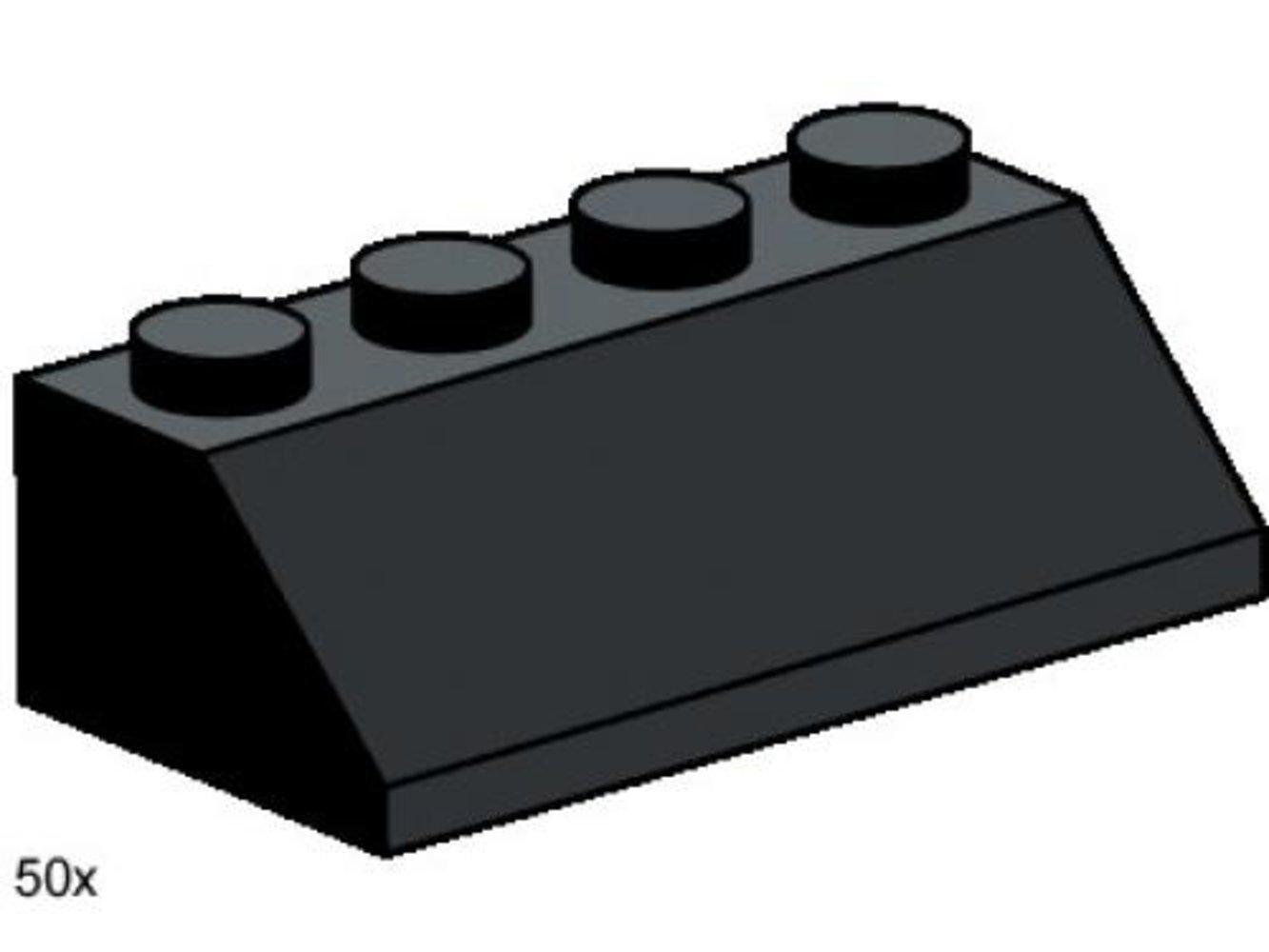 2 x 4 Roof Tile Black