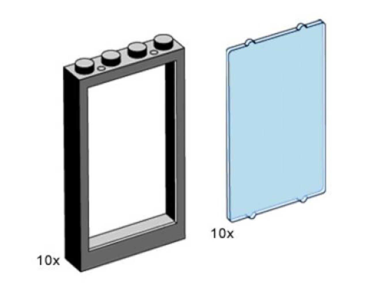 1 x 4 x 5 Black Window Frame with Blue Pane
