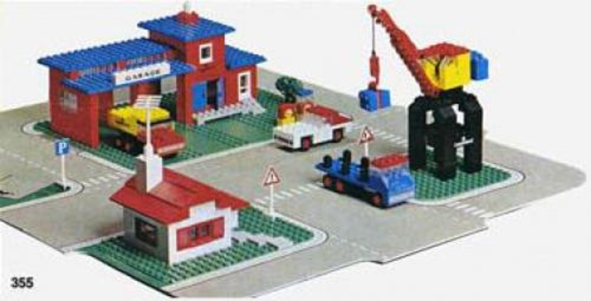 Town Center Set with Roadways