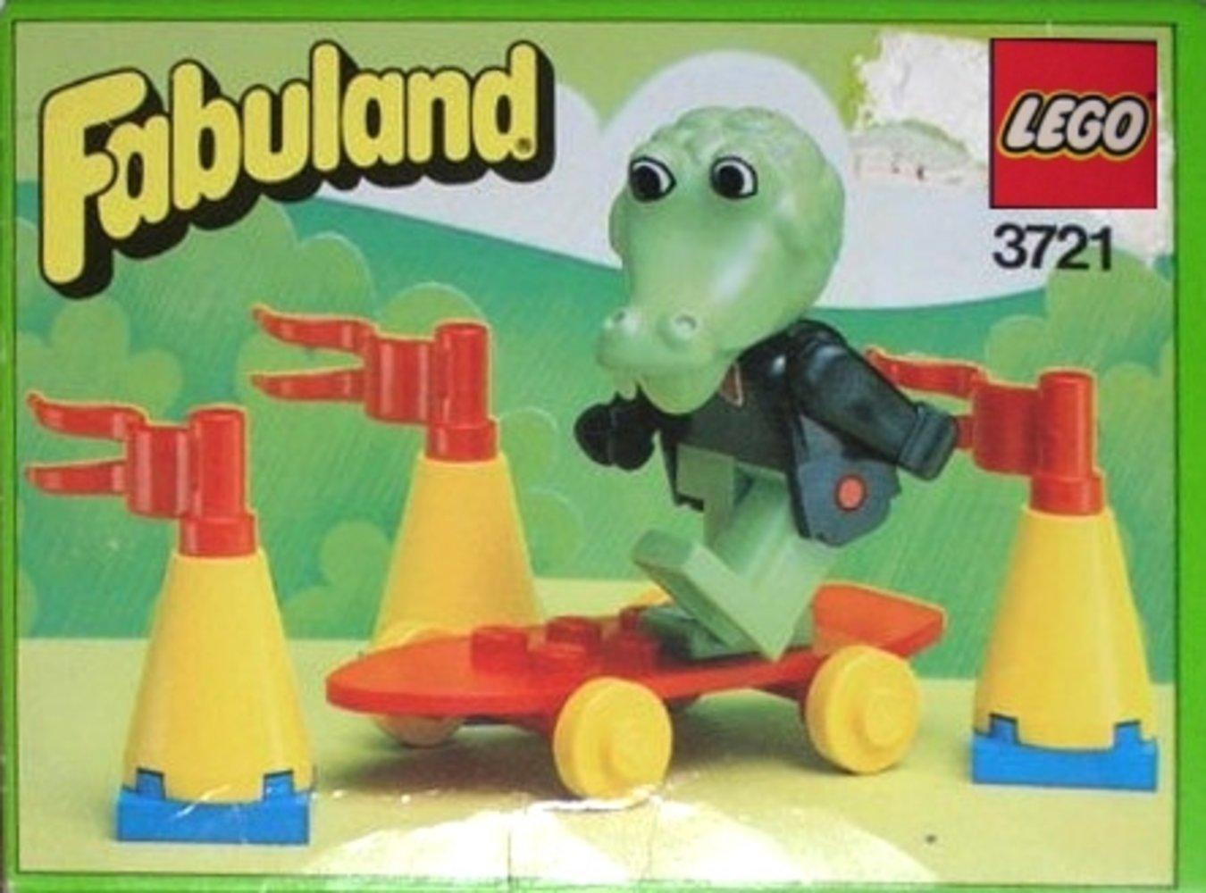 Clive Crocodile on Skateboard