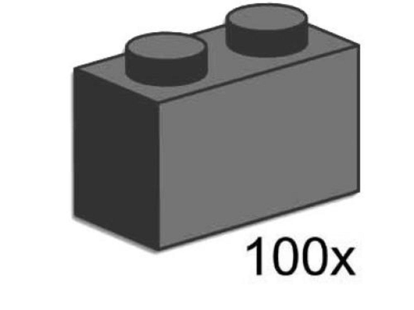 1 x 2 Brick Dark Gray