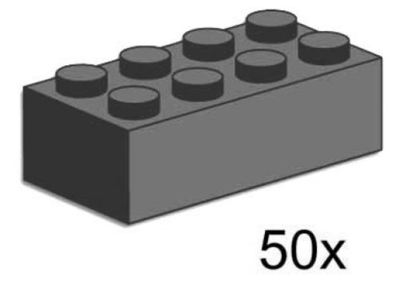2 x 4 Dark Gray Bricks