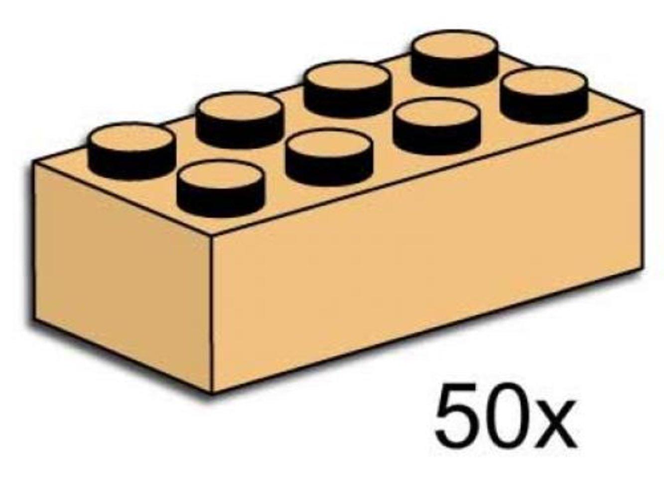2 x 4 Tan Bricks