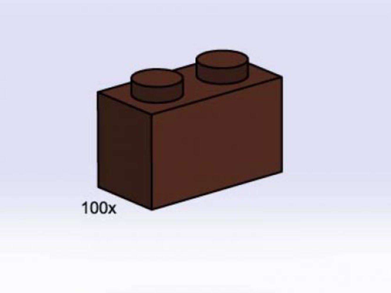 1 x 2 Brown Bricks