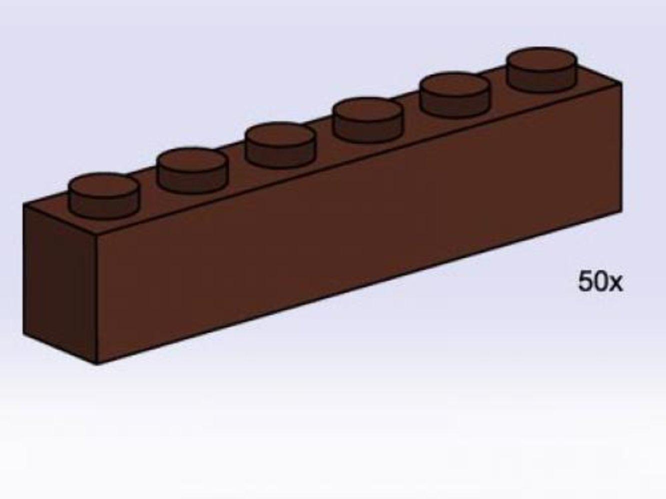 1 x 6 Brown Bricks