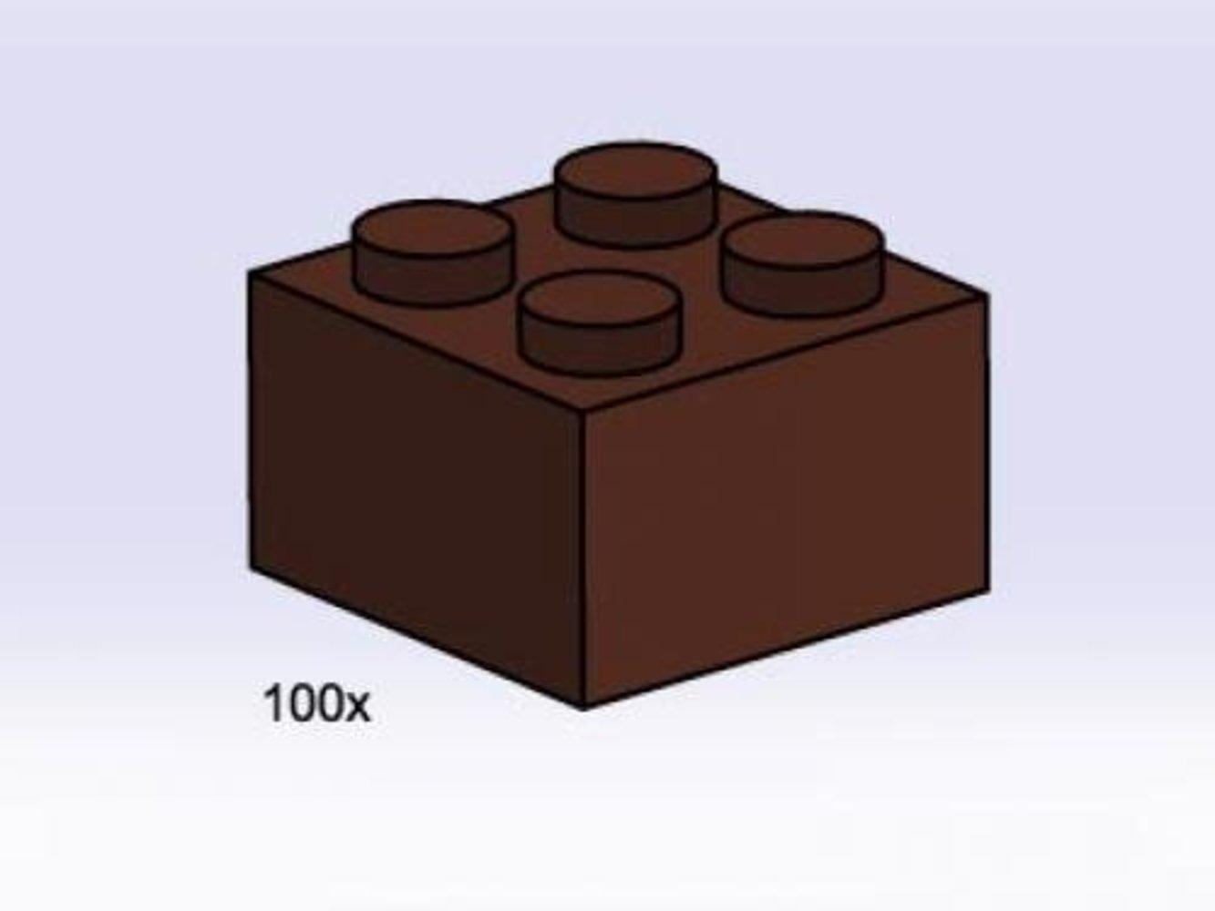 2 x 2 Brown Bricks