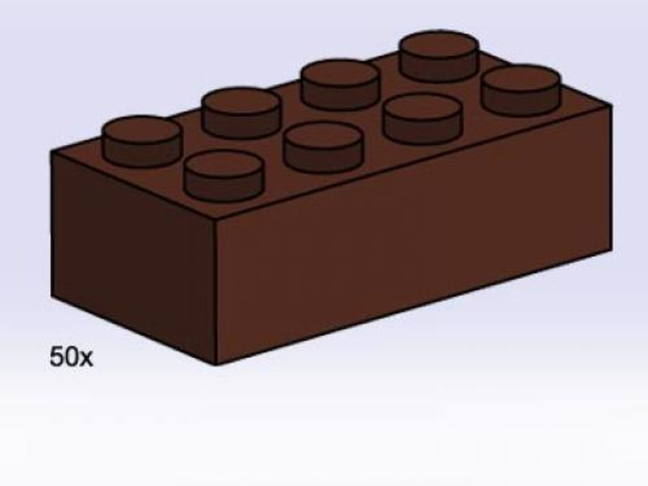 2 x 4 Brown Bricks