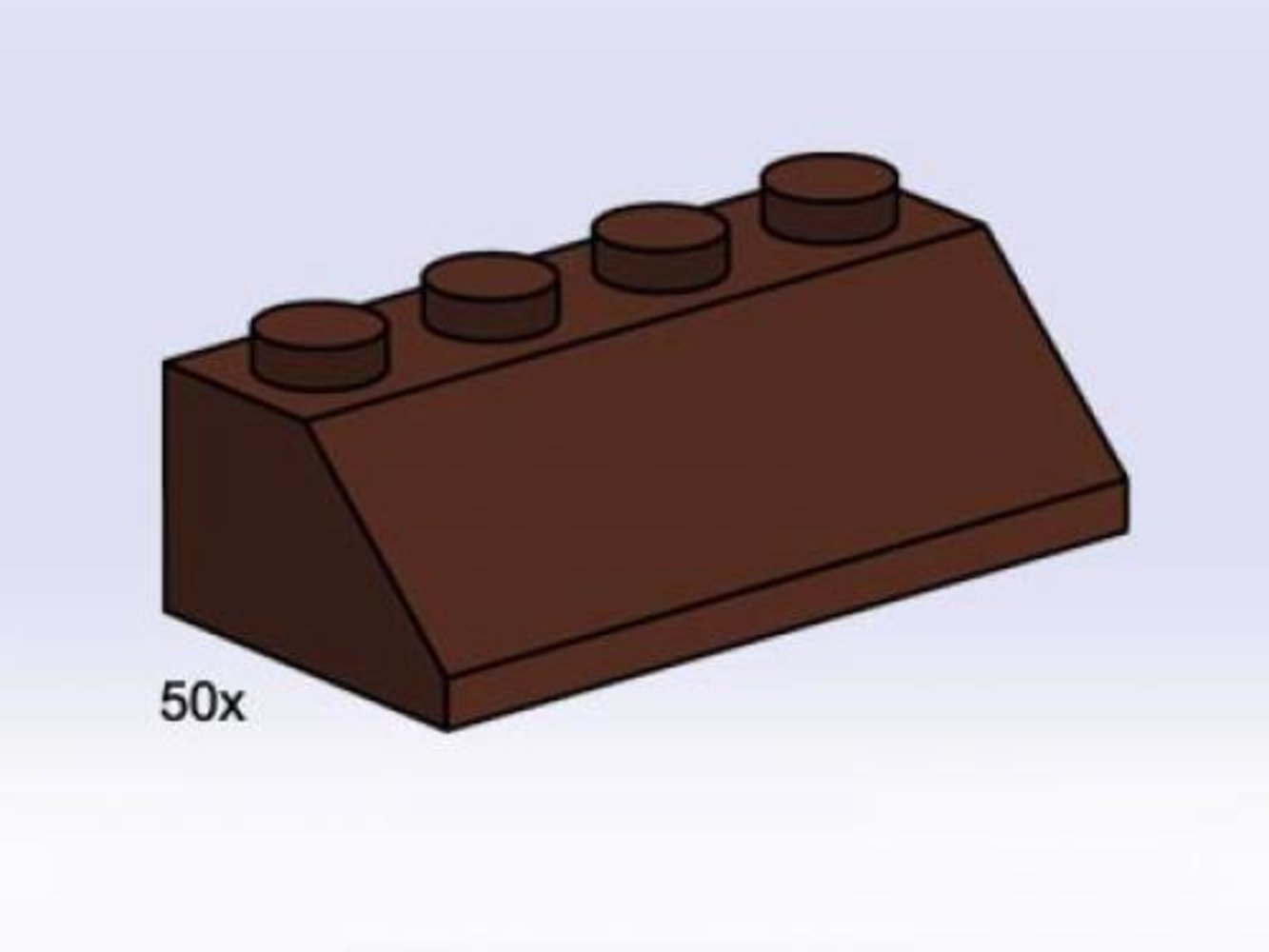 2 x 4 Roof Tile Brown