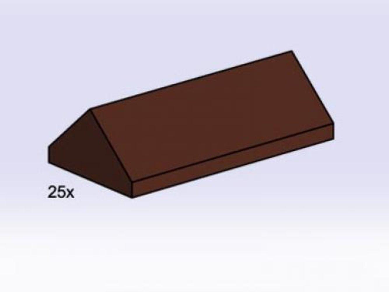 2 x 4 Brown Ridge Roof Tiles Steep Sloped