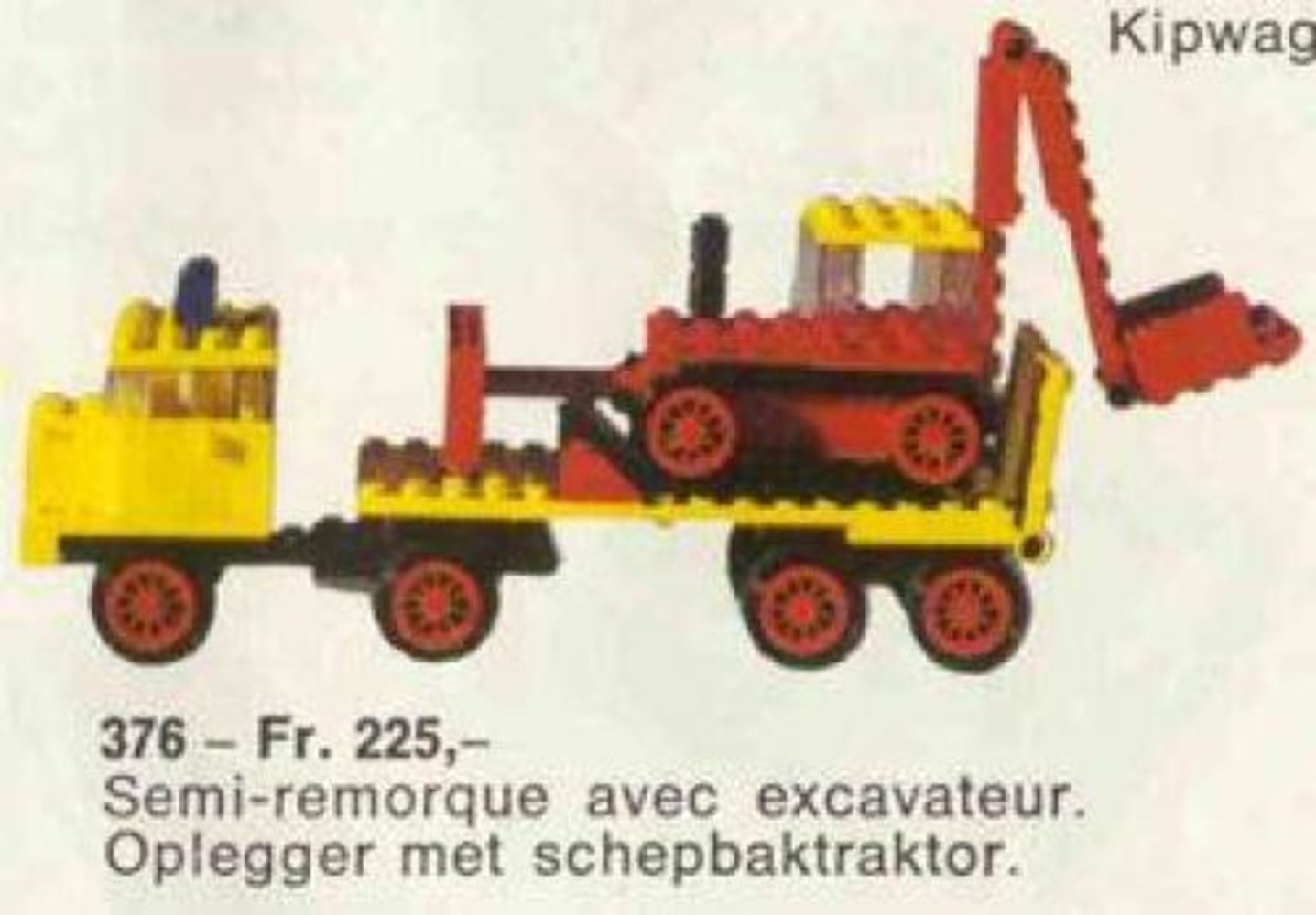 Low-Loader with Excavator