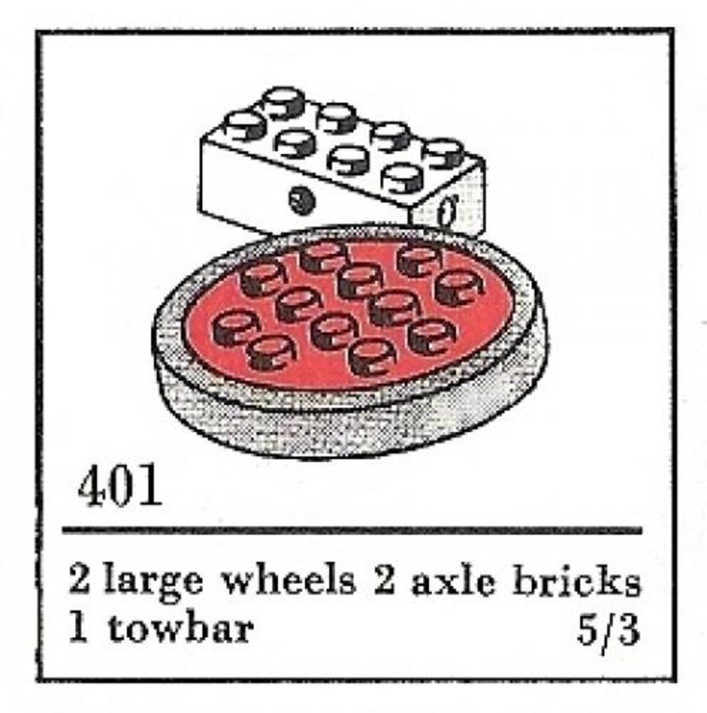 Large Wheels with Axles (The Building Toy)