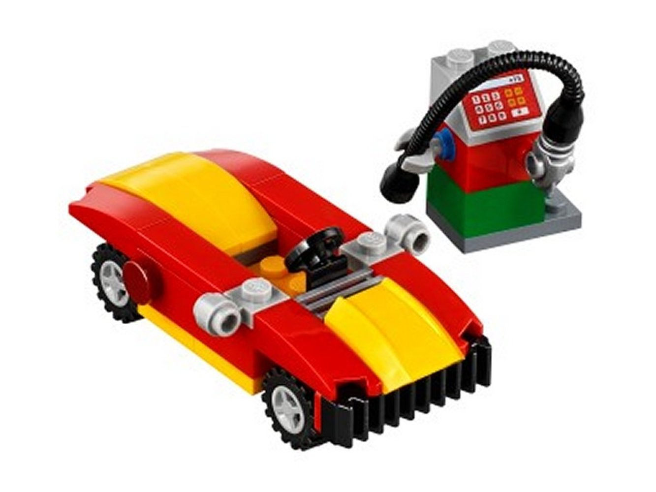Car and Petrol Pump