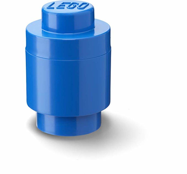 Storage Brick Round 1 x 1 Blue