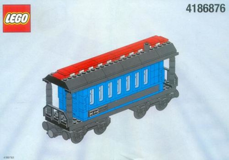 Passenger Wagon Blue (White Box)