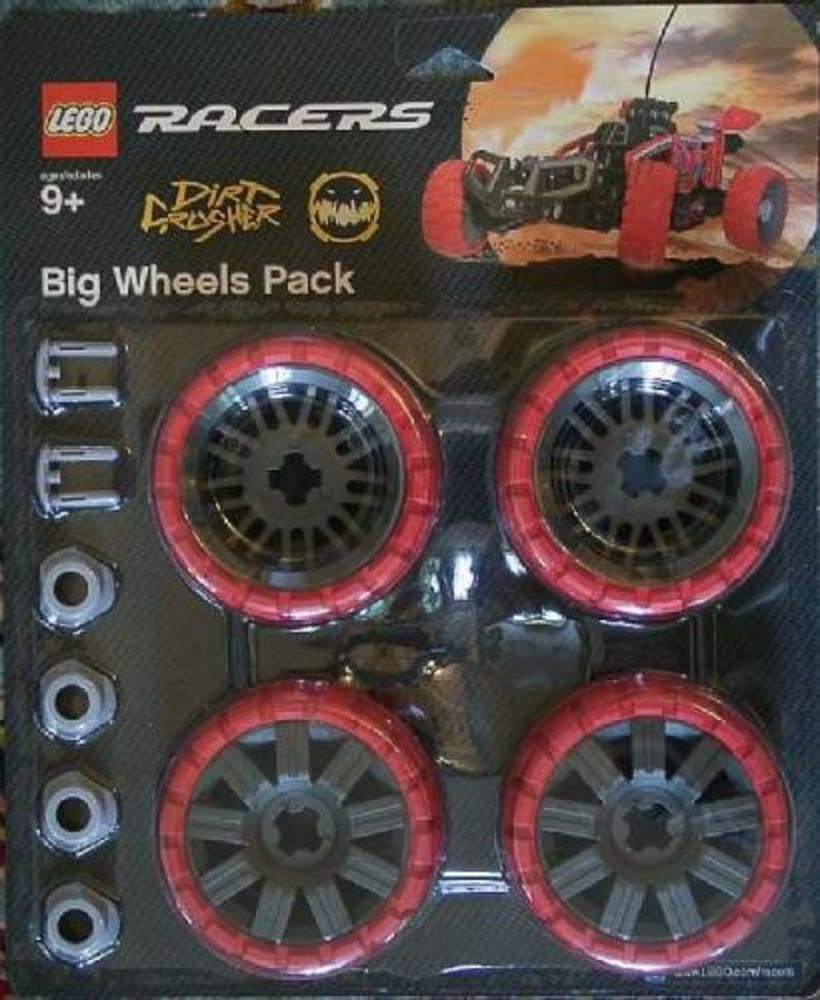 Big Wheels Pack Dirt Crusher (Red)