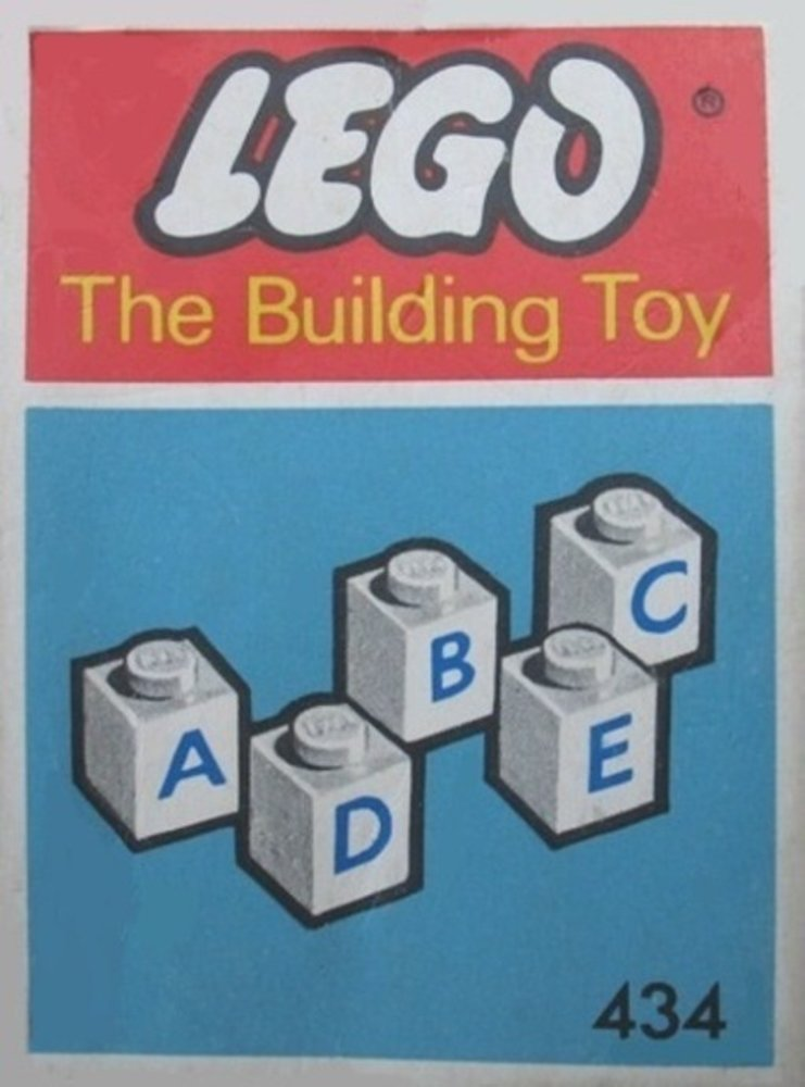 50 lettered bricks (The Building Toy)
