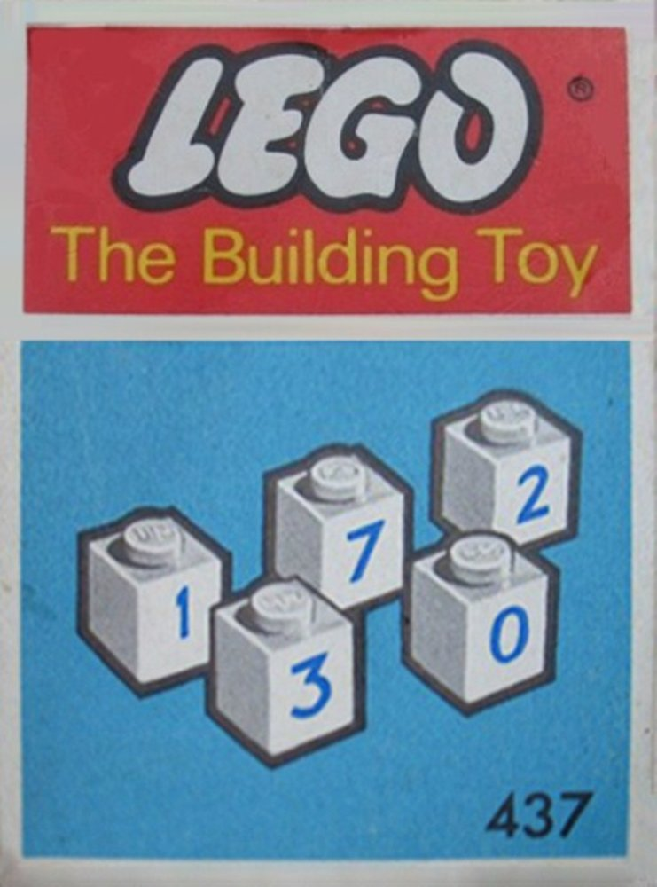 50 numbered bricks (The Building Toy)