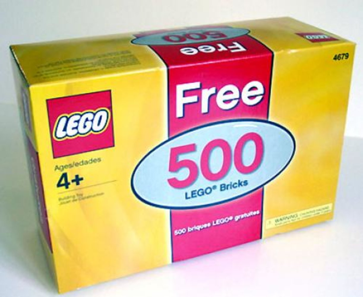 Free 500 LEGO Bricks (Bonus box and its contents only)