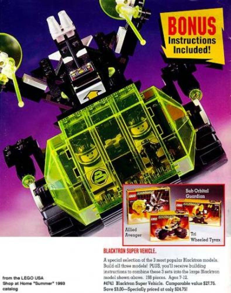 Blacktron Super Vehicle (Value 3-Pack)