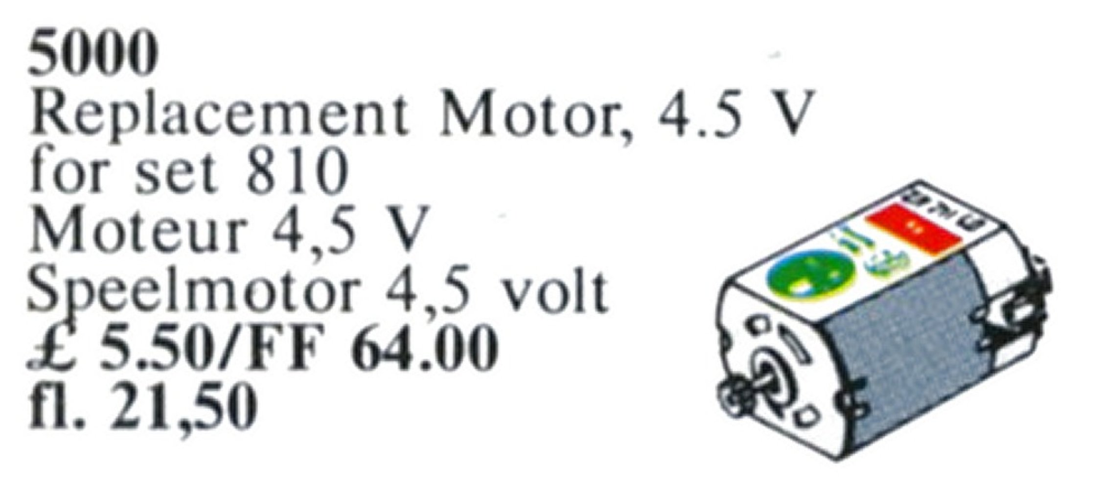 Replacement 4.5V Motor