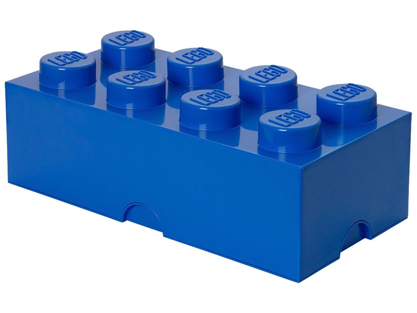 8 stud Blue Storage Brick