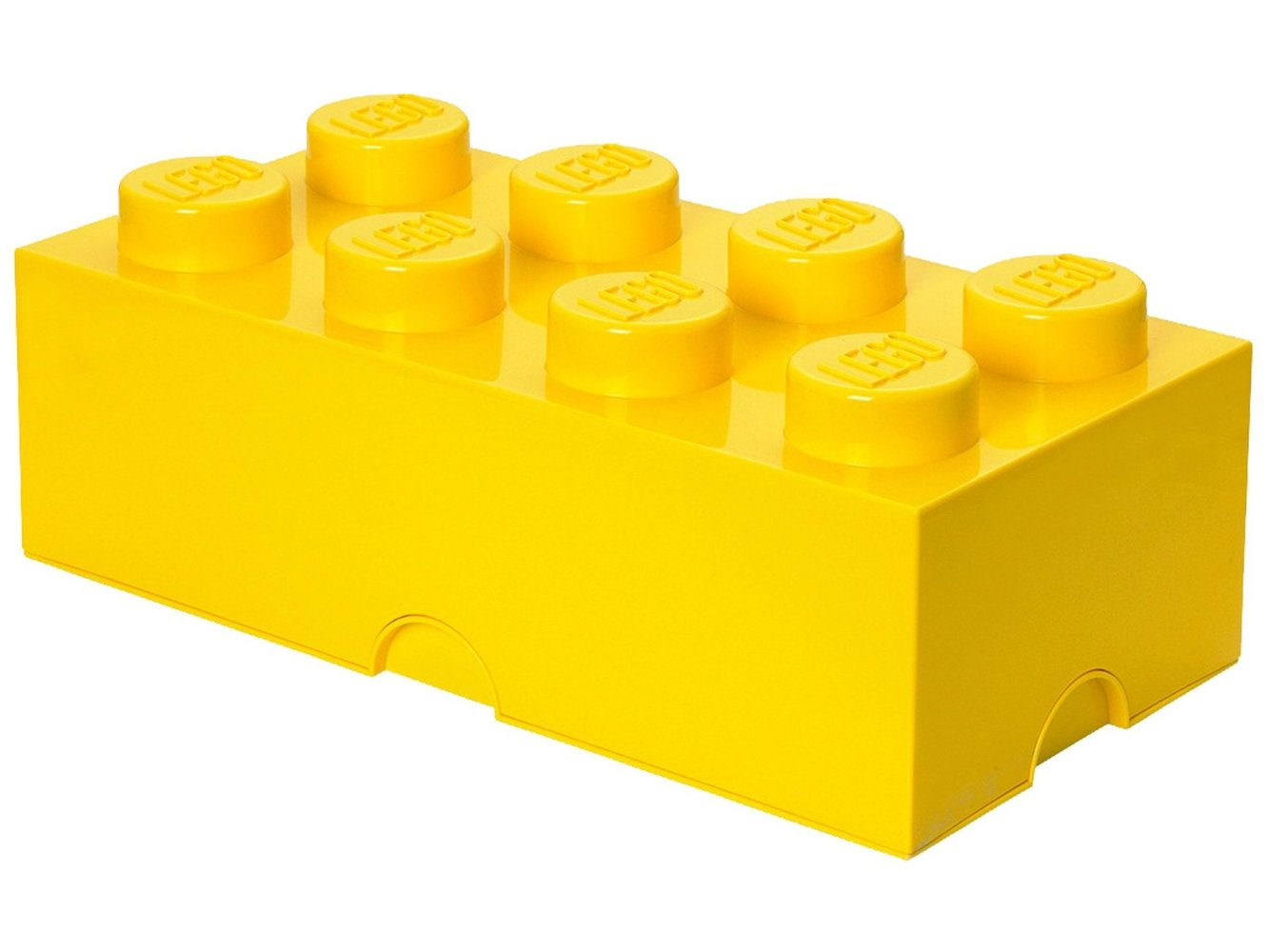 8 stud Yellow Storage Brick