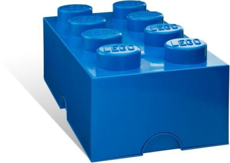 8-stud Blue Storage Brick