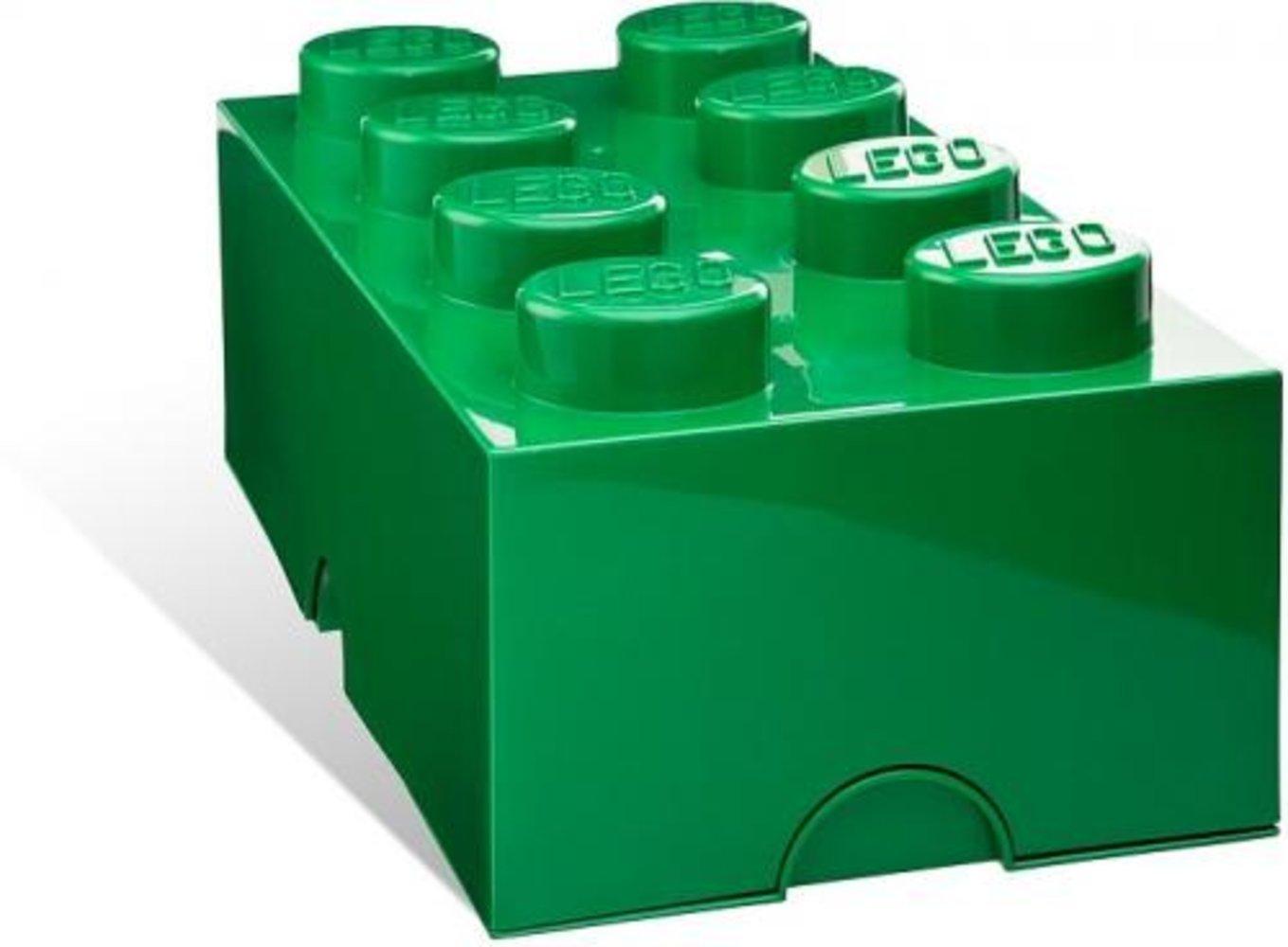 8-stud Green Storage Brick