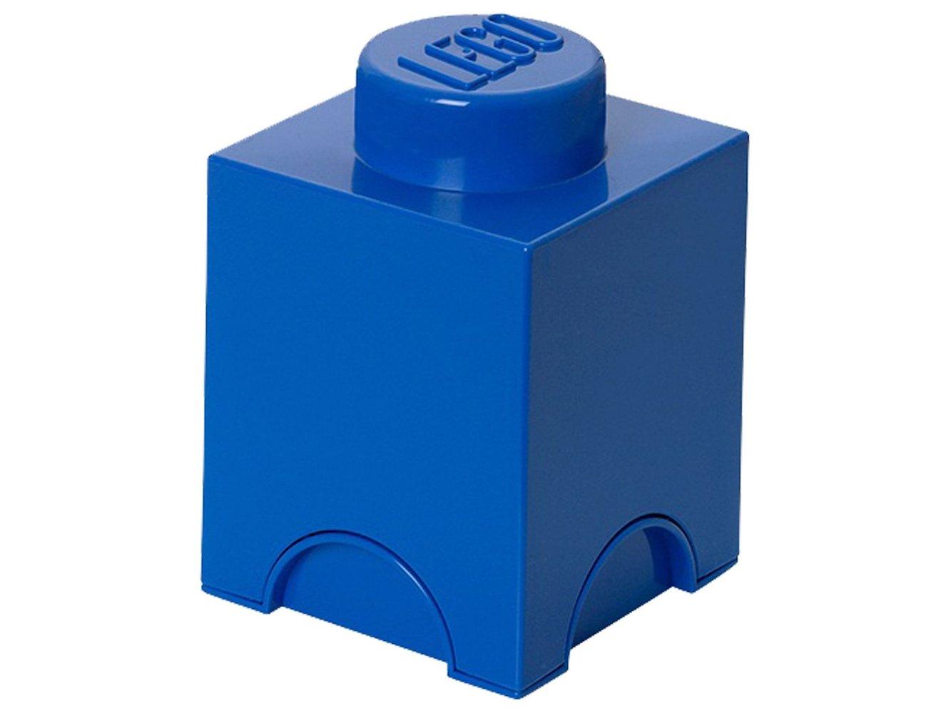 1 stud Blue Storage Brick