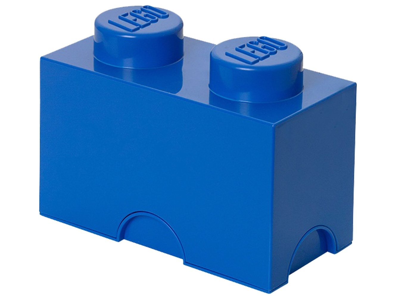 2 stud Blue Storage Brick