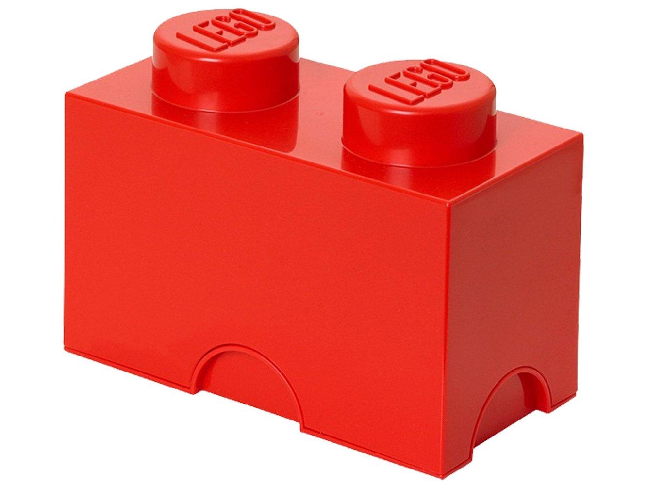 2 stud Red Storage Brick