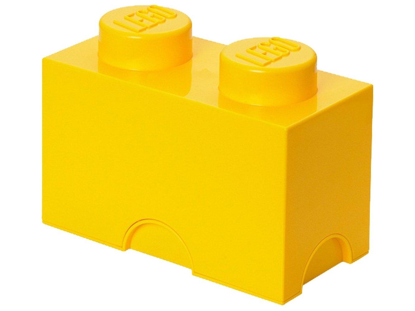 2 stud Yellow Storage Brick