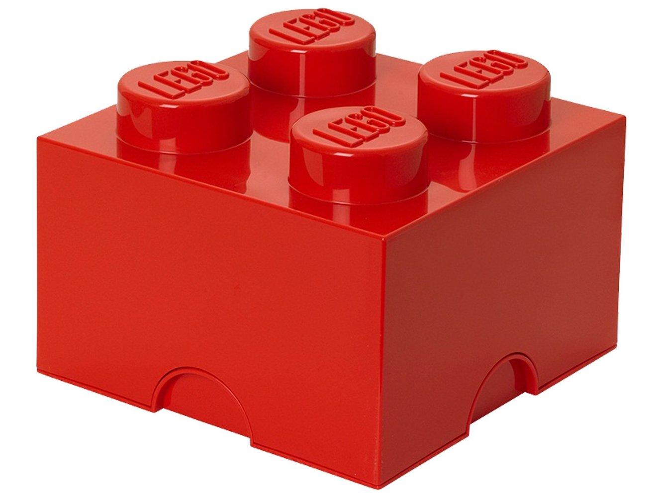 4 stud Red Storage Brick