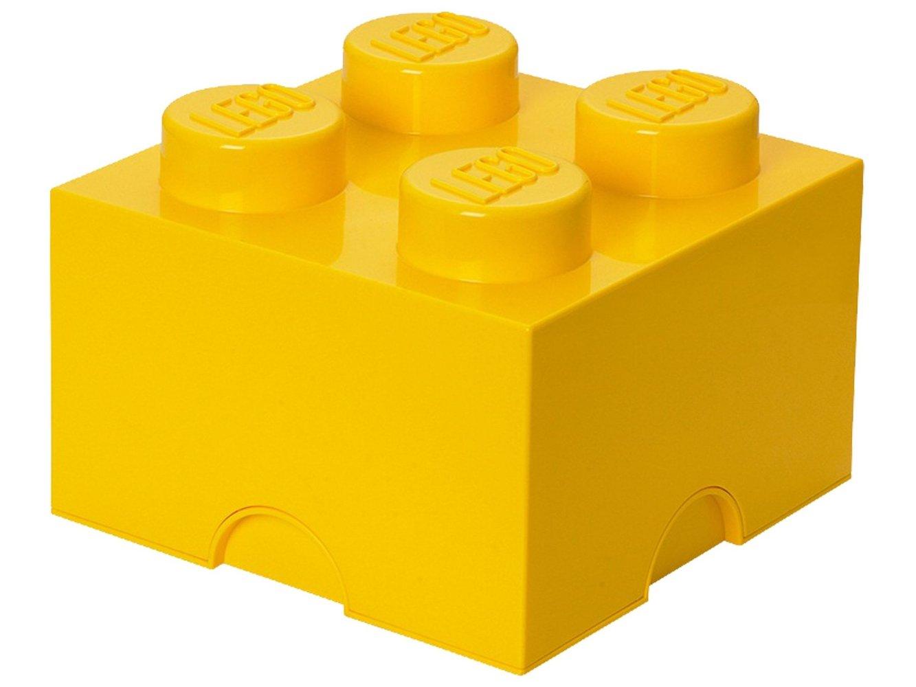 4 stud Yellow Storage Brick