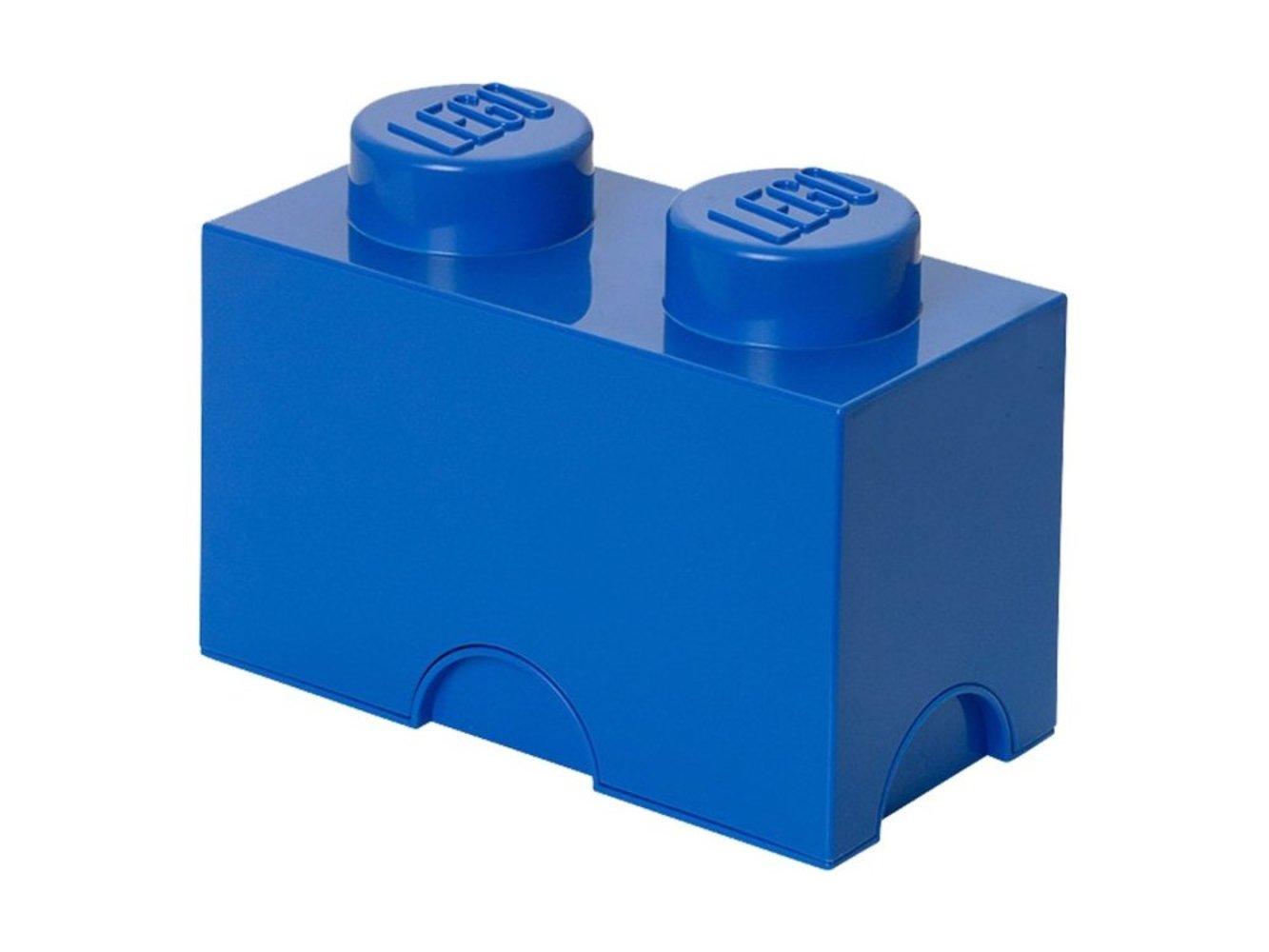 Two Stud Storage Brick Blue