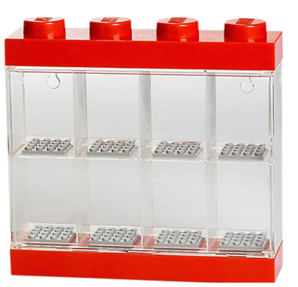 Minifigure Display Case 8 - Red