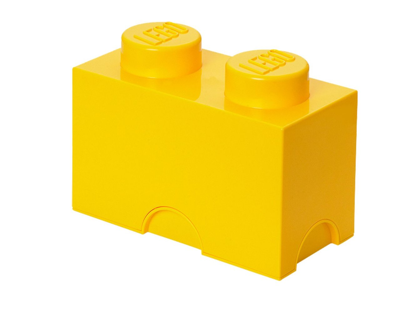 2-stud Yellow Storage Brick