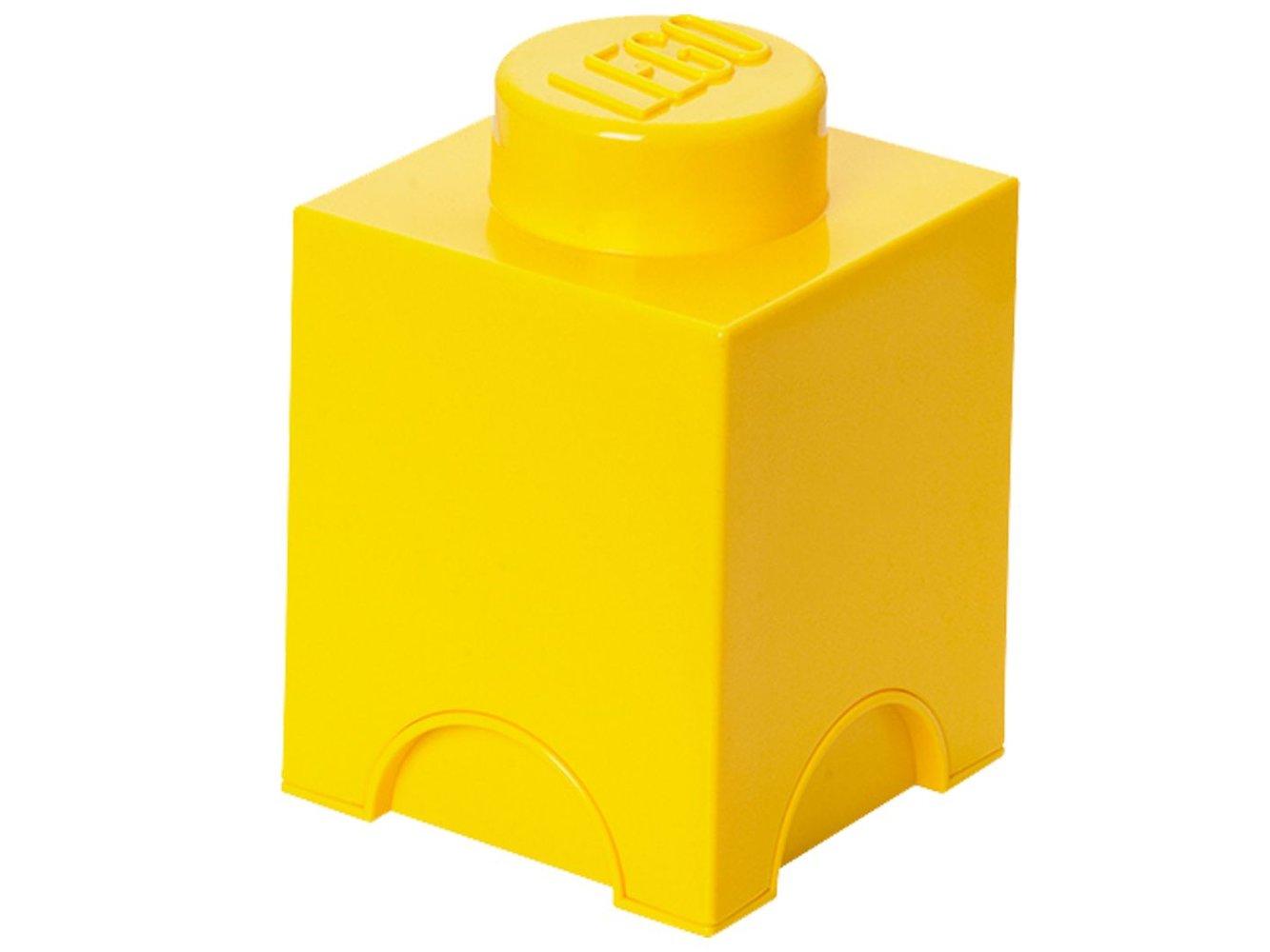 Storage Brick 1 x 1 Yellow