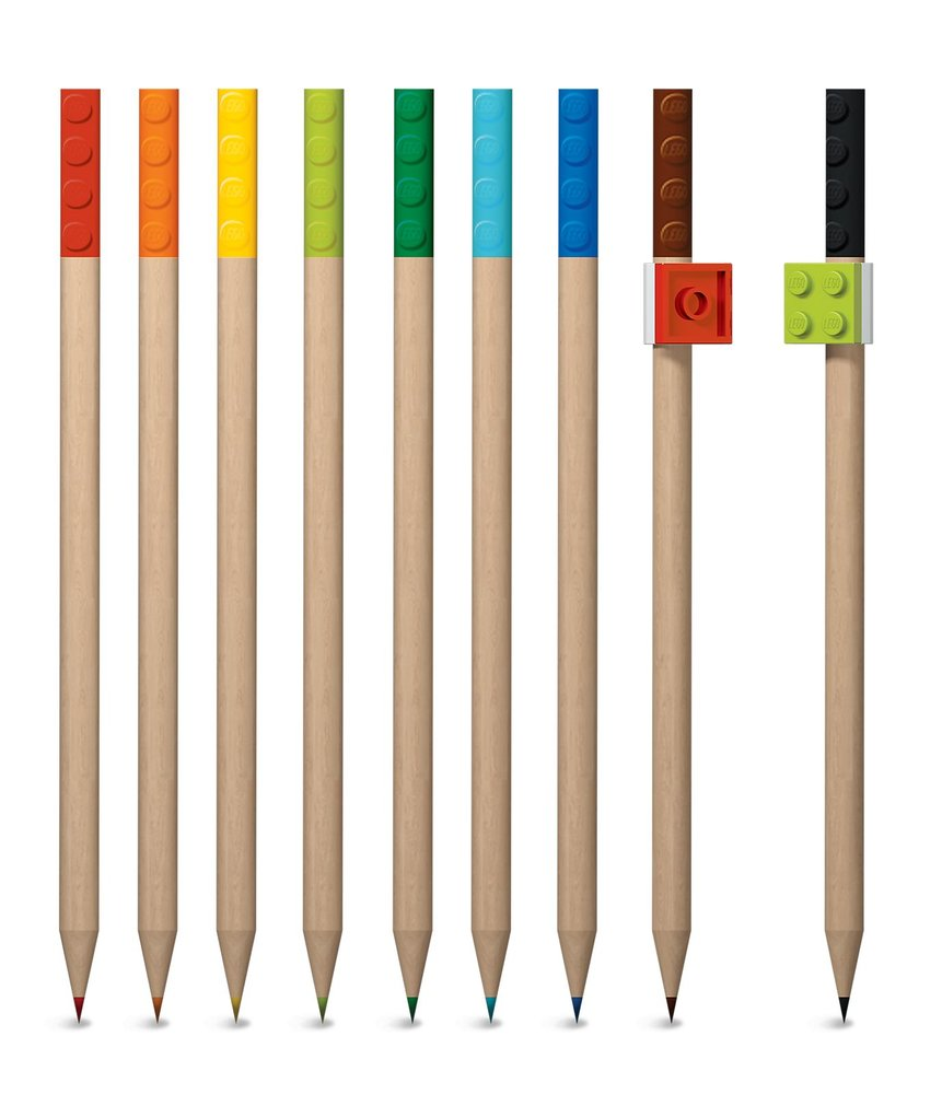 9-Pack Colored Pencil with Toppers Pack