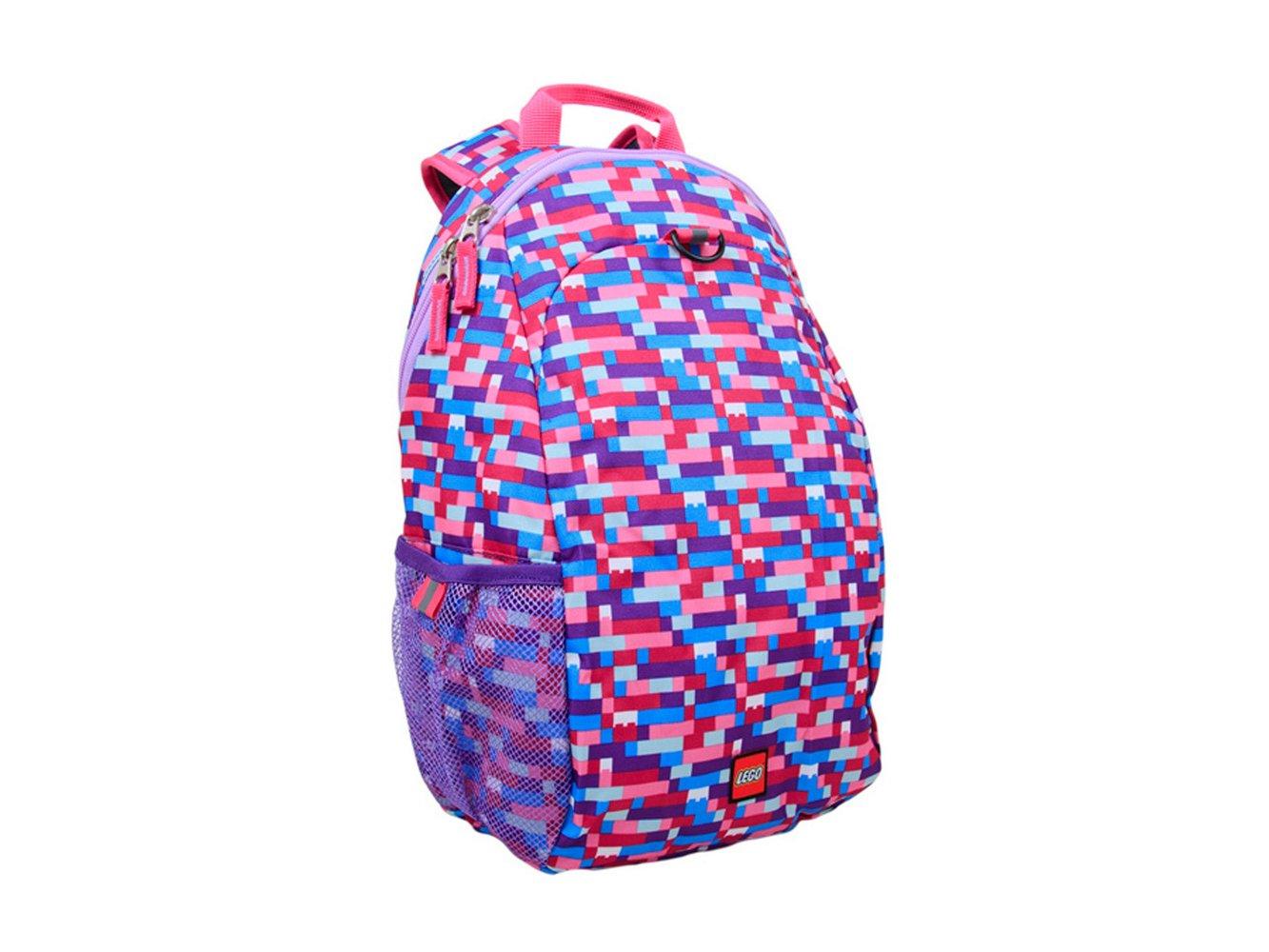 Brick Print Heritage Backpack (Pink/Purple)