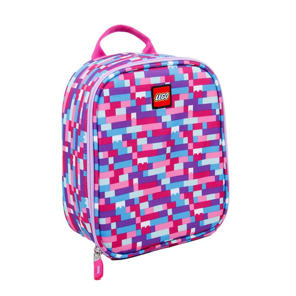 Brick Print Lunch Bag (Pink/Purple)