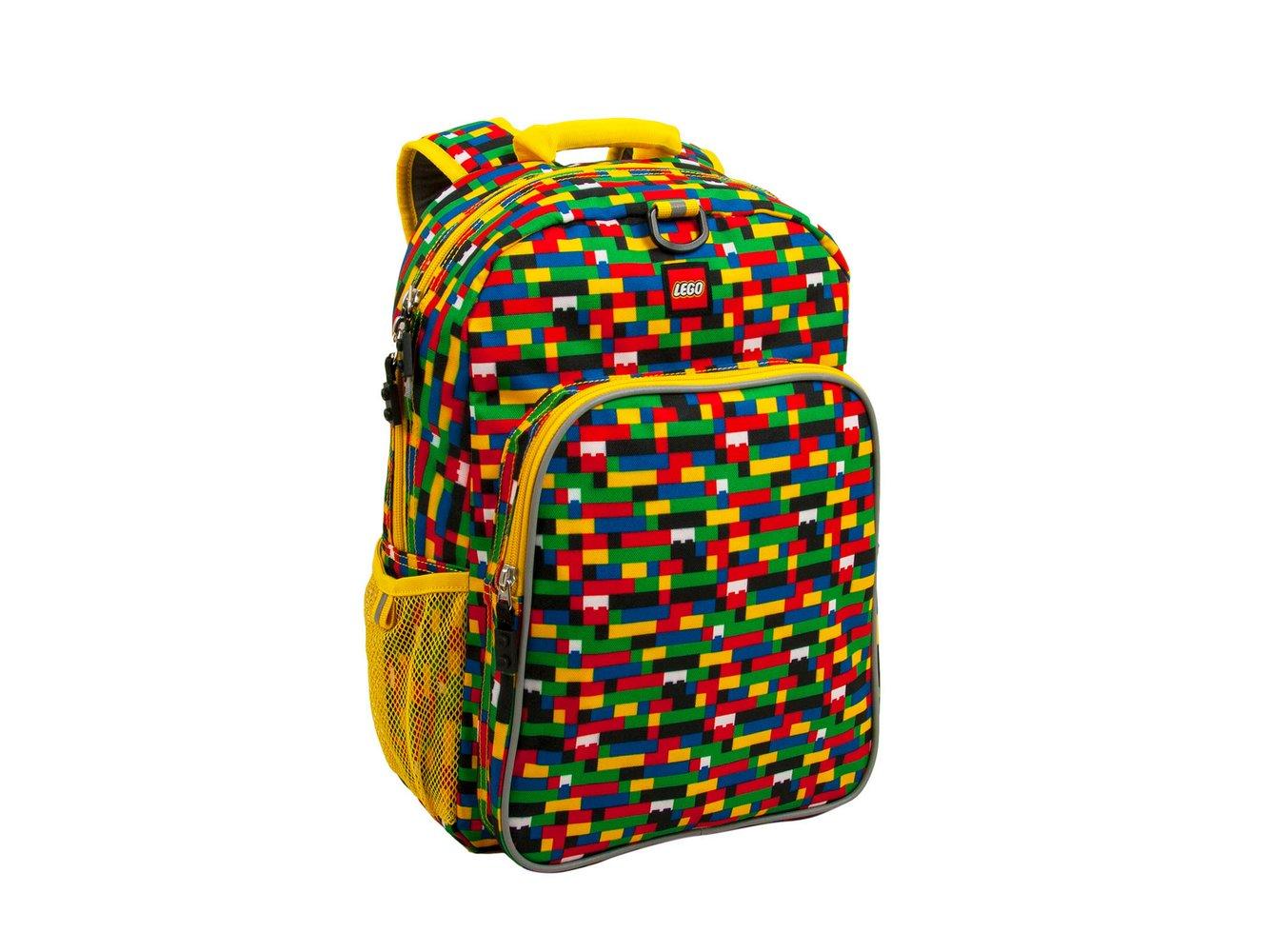 Brick Print Heritage Backpack (Red/Blue)