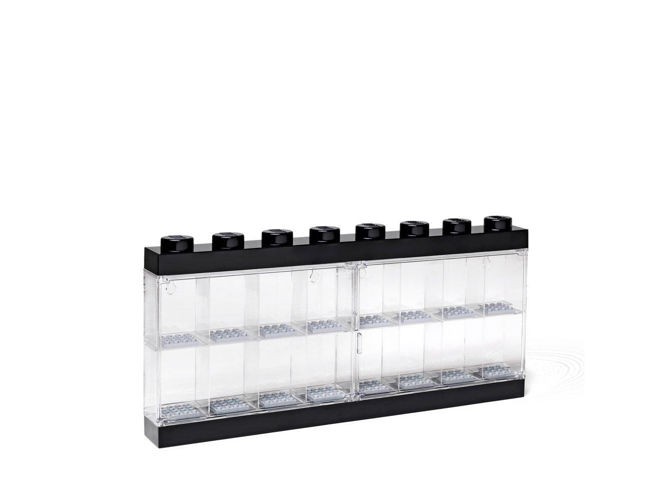 Minifigure Display Case 16 (Black)