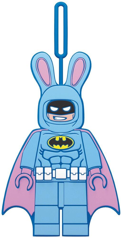Easter Bunny Batman Luggage Tag