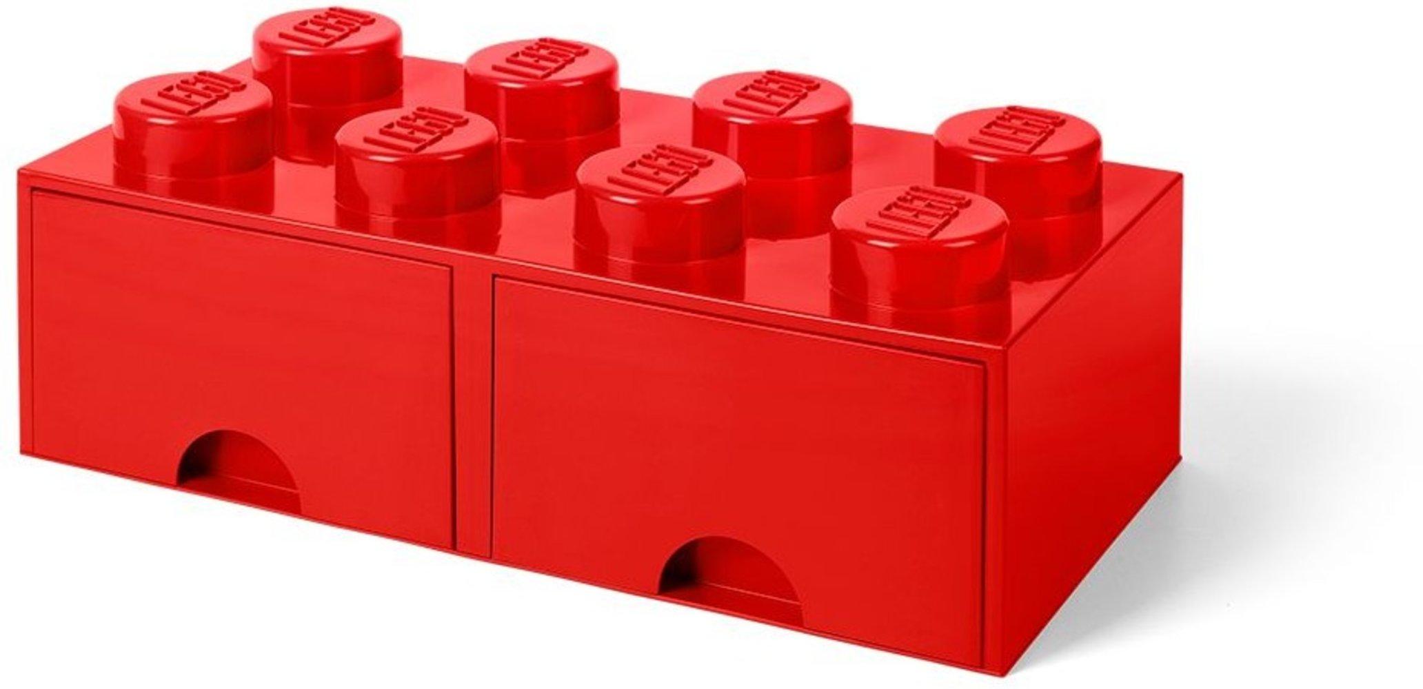 Storage Brick Drawer (8-Stud Red)
