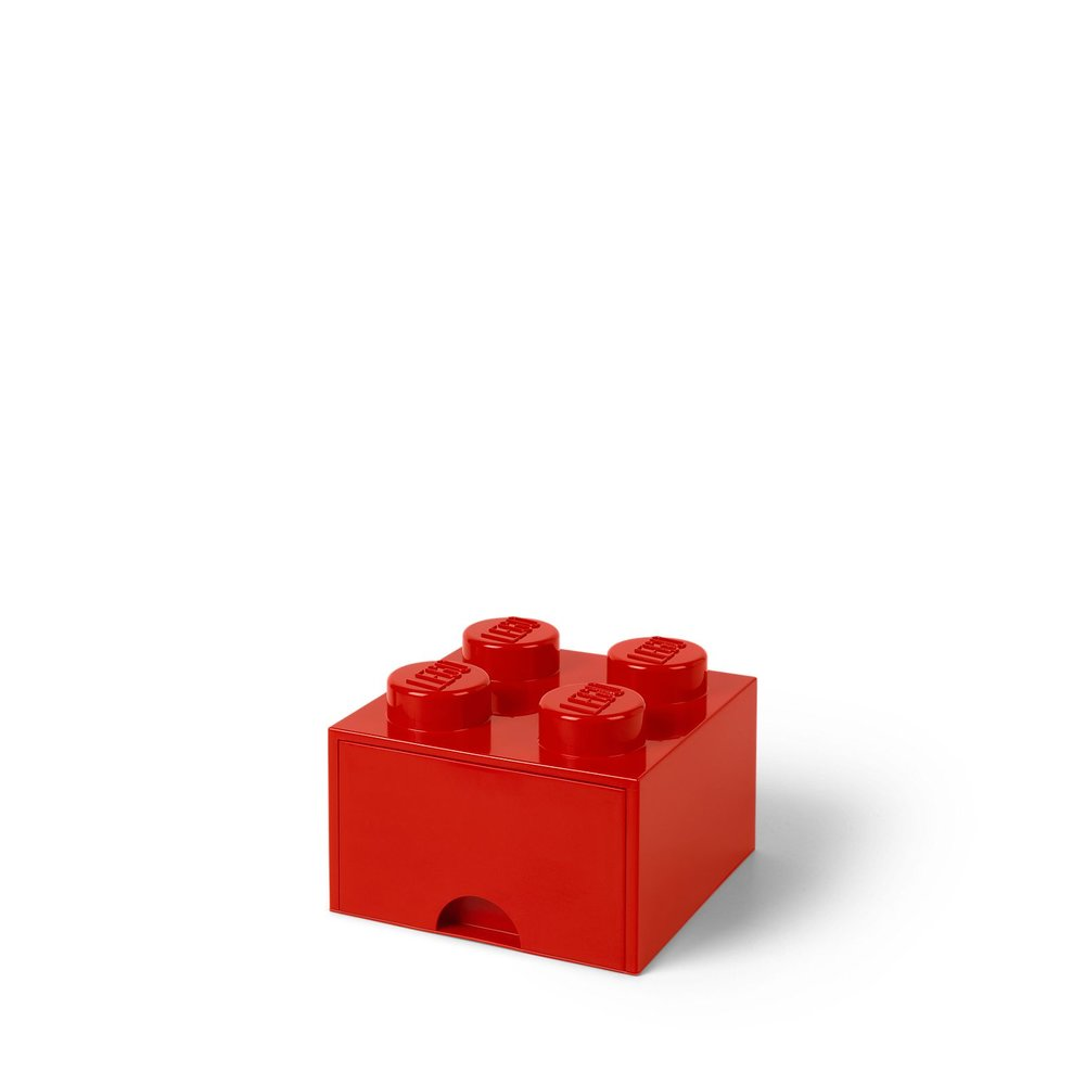 Storage Brick Drawer (4-Stud Red)