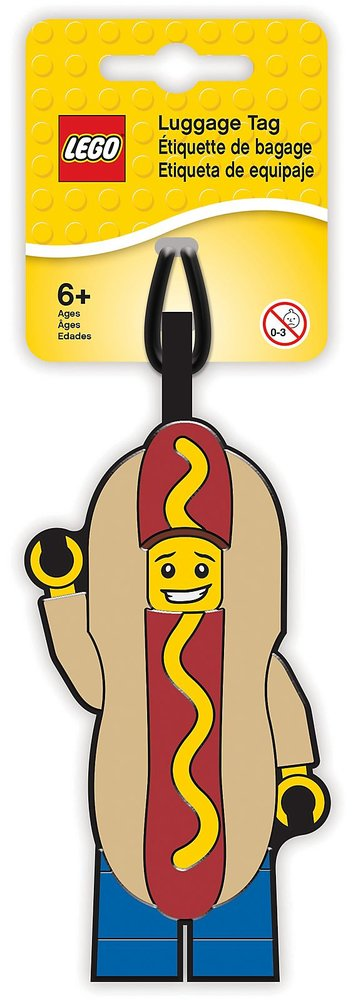 Luggage Tag (Hot Dog Guy)